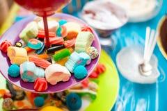孩子的甜果冻糖果 免版税库存照片