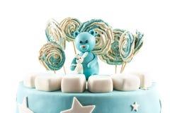孩子的生日蛋糕乳香树脂 免版税图库摄影