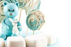 孩子的生日蛋糕乳香树脂 免版税库存照片