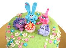 孩子的生日蛋糕 免版税库存图片