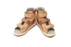孩子的矫形鞋 免版税库存图片