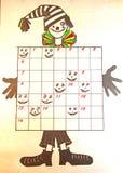 孩子的纵横填字谜 图库摄影