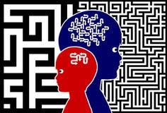 孩子的脑子训练 免版税库存图片