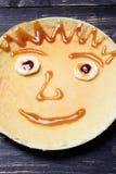 孩子的薄煎饼微笑 库存图片