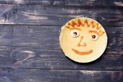 孩子的薄煎饼微笑 库存照片