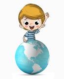 孩子的行星 图库摄影