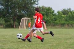 孩子的足球 库存照片