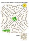 孩子的迷宫比赛 库存图片