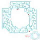 孩子的迷宫比赛 向量例证