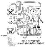 孩子的迷宫比赛 库存例证