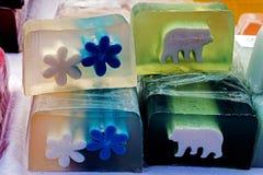 孩子的5愉快的自然肥皂 免版税图库摄影