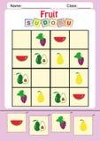 孩子的滑稽的图片sudoku 免版税库存照片