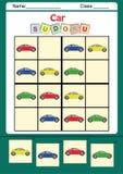 孩子的滑稽的图片sudoku 图库摄影