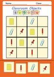 孩子的滑稽的图片sudoku 免版税库存图片