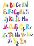 孩子的滑稽的字体 向量例证
