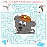 孩子的滑稽的迷宫比赛 向量例证