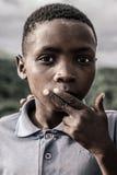 孩子的画象,南非 免版税库存图片