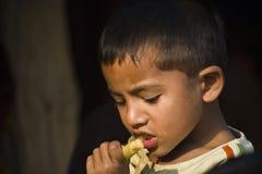孩子的画象,尼泊尔 免版税库存照片
