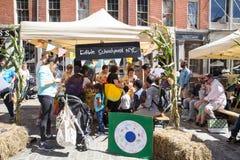 孩子的NYC农厂新节日2016年 免版税库存照片
