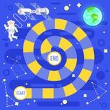 孩子科学和空间棋的例证 皇族释放例证