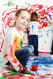 孩子绘 图库摄影