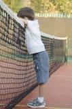 孩子网球员 免版税库存照片
