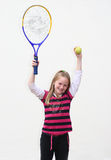 孩子网球 免版税库存照片