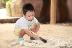 孩子考古学 免版税图库摄影