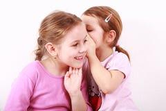 孩子耳语 免版税库存图片