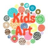 孩子艺术爱好俱乐部设计 免版税库存照片