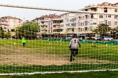 孩子英格兰足球联赛比赛-土耳其 免版税库存图片
