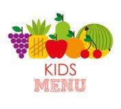 孩子菜单设计 库存例证