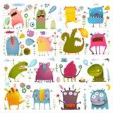 孩子设计的乐趣逗人喜爱的动画片妖怪 库存图片