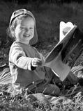 孩子读了研究 免版税库存图片