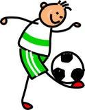 孩子足球 免版税库存图片