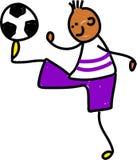 孩子足球 库存图片