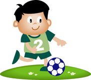 孩子足球 库存照片