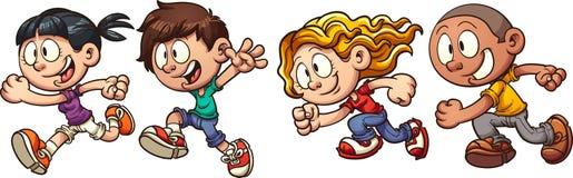 孩子运行 免版税库存照片