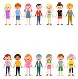 组孩子集 免版税库存图片