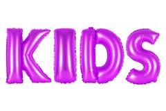 孩子,紫色颜色 库存照片
