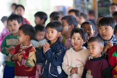 孩子,缅甸 免版税库存照片
