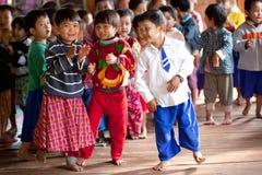 孩子,缅甸 库存图片