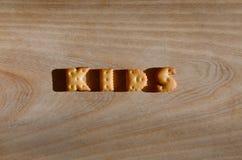 孩子 可食的信件堆  免版税库存图片