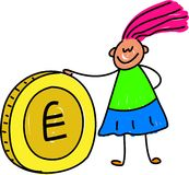 孩子货币 免版税库存照片