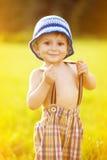 孩子晴朗的画象  免版税库存照片