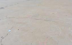 孩子绘的地板 库存照片