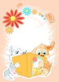 孩子读童话 免版税库存照片