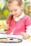 孩子绘画 免版税图库摄影