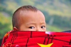 孩子Hmong在Sapa,越南 库存图片