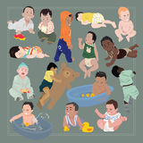 婴孩字符 图库摄影